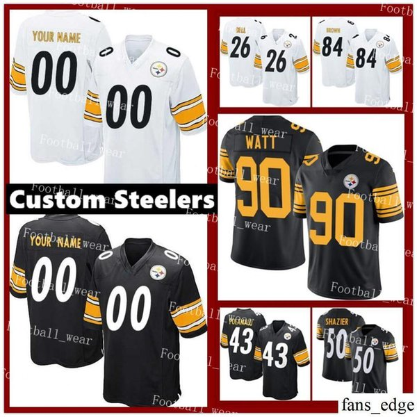 online store d5ee1 97d1d 2019 Mens Women Youth Custom Pittsburgh Steelers Jersey 75 Joe Greene 58  Jack Lambert 86 Hines Ward 89 Vance McDonald R10 Yan Switzer From  Fans_edge, ...