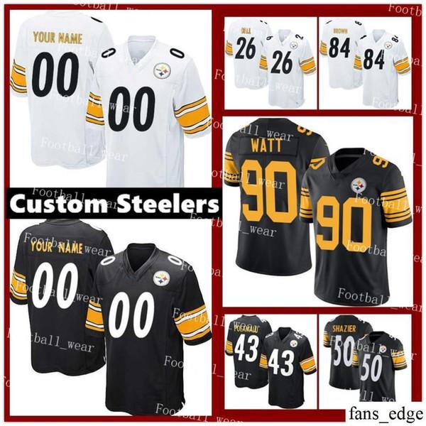 online store d7cc5 327d7 2019 Mens Women Youth Custom Pittsburgh Steelers Jersey 75 Joe Greene 58  Jack Lambert 86 Hines Ward 89 Vance McDonald R10 Yan Switzer From  Fans_edge, ...