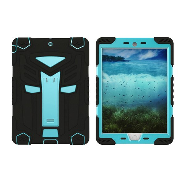 Case for Apple iPad 234 Air2 Pro 9.7 10.5 Mini Heavy Duty Rugged Silicon PC Rubber Armor Hard Shell Stand Cover