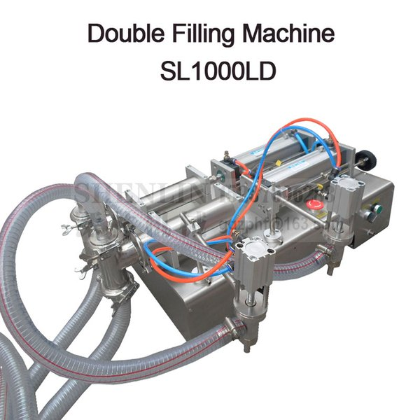 best selling Semi-automatic filling machine pneumatic filling machine double head liquid filler beverage drink sauce SHENLIN