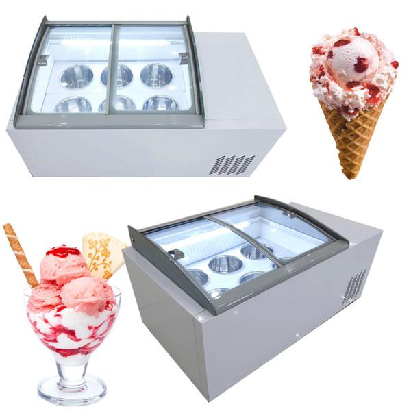 best selling 110V 220V New ice porridge cabinet commercial ice cream display cabinet for cold drinks shop store supermarket ice cream display cabinet