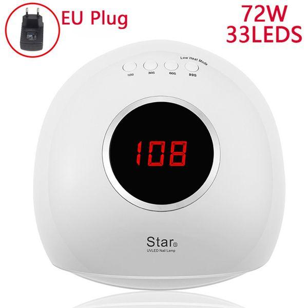 72W White EU Plug