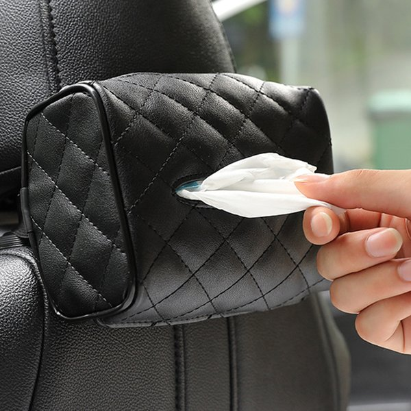 Кожа Солнцезащитный козырек стул Висячие Тип автомобиля Tissue Box Креативный Салфетка крышка лотка для бумаги держатель Авто принадлежности