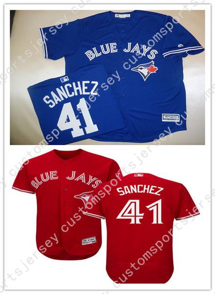 636806dc4 Cheap Custom Toronto Aaron Sanchez Red jerseys Baseball Stitched Retro Mens jerseys  Customize any name number