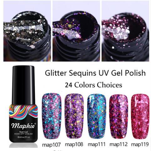 Лак для ногтей с цветными блестками