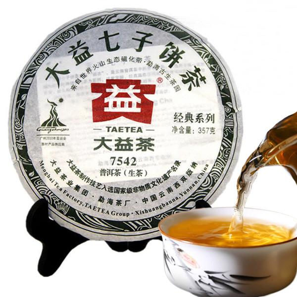 357g Eski puerh Çay Pastalar yunnan ham puerh Yeşil Çay Sağlık Yeşil Gıda Puer Çin Pu'er Sheng cha Sağlıklı Gıda Pu erh Çay