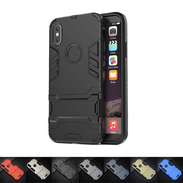 Homem de ferro phone case para iphone x sr ms-max 7/8 7/8 p 6/6 s 6 / 6sp 5 / 5s / se armadura apoio magro proteção durável phone case tpu pc