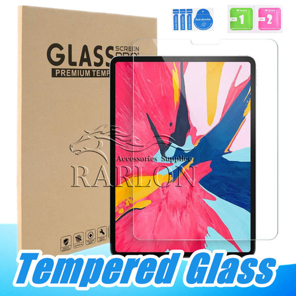 Premium Tempered Glass Clear Screen Protector Film For iPad Pro 9.7 2018 10.5 11 12.9 inch 2019 Mini 2 3 4 5 6 Air With Hard Retail Package