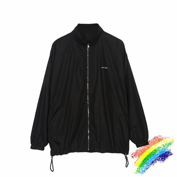 we11 done jacket men women streetwear reflective welldone outdoor sunscreen windproof windbreaker well done coat