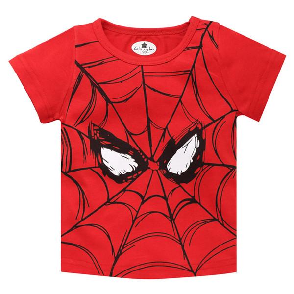 Las nuevas 2019 camisetas de los niños, los niños populares de la impresión del héroe Baby Boy rematan la camiseta de manga corta camiseta del verano envío libre