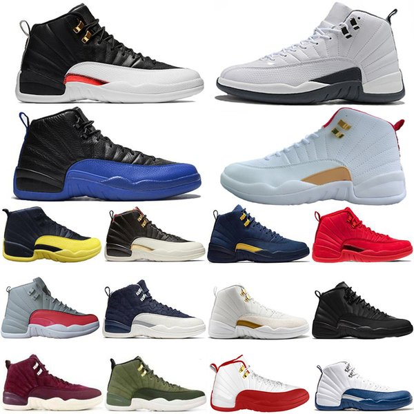 New Arrival FIBA Reverse Taxi Game Royal 12 12s Basketball Shoes Bordeaux GS CNY Michigan White Grey Gym Red Mens Trainers Designer Sneakers
