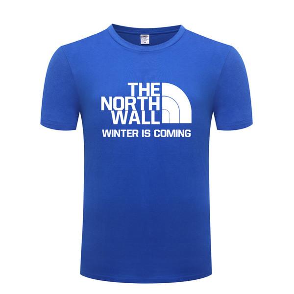Juego de tronos THE NORTH WALL Hombre camiseta Camisetas Hombre algodón Camiseta de manga corta Camiseta de manga corta Camiseta de moda de verano
