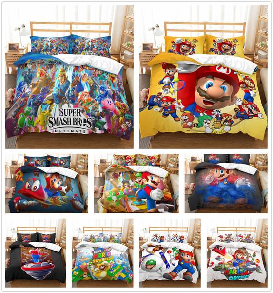 Ensemble de literie personnalisé 3D Super Mario Brothers Housse de couette housse de couette enfants