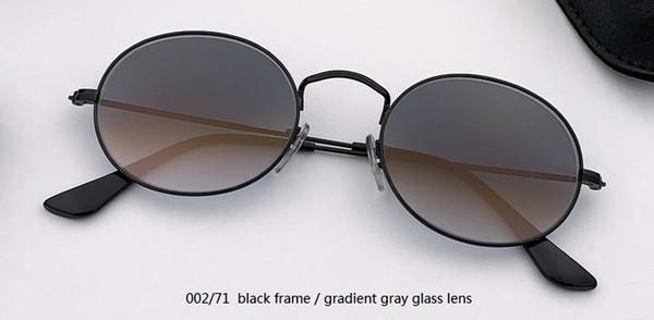 002/71 أسود / التدرج عدسة زجاج الرمادي