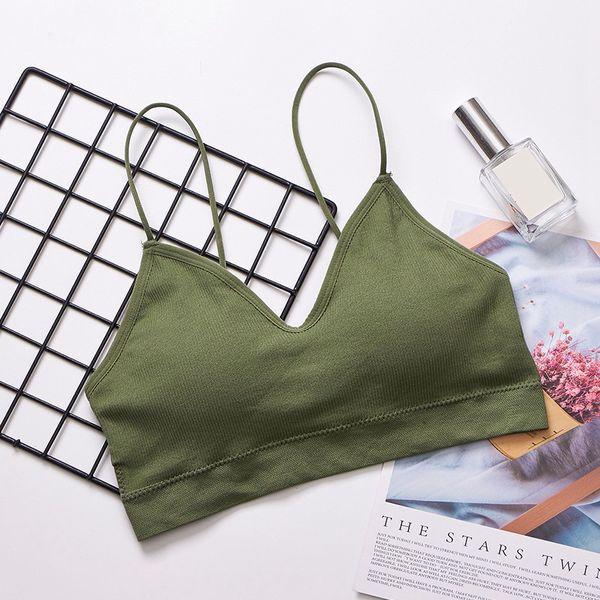 Women Bottoming Padded Bra Push Up Wireless Bralette Sexy Lingerie Thin Strap Underwear Beauty Back Wrapped Chest Bra