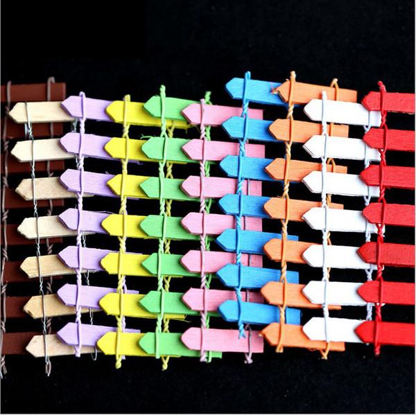 50 Pcs Clôture En Bois Palissade Miniature Fée Jardin Maison Maisons Décoration Mini Artisanat Micro Aménagement Paysager Décor Bricolage Accessoires