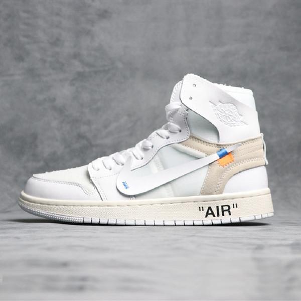 45f9cd33861 1s 1 OG Mens Basketball Shoes 2019 Top Quality Banned Bred Triple Black  White Royal Blue TOP 1s Designer Sport Sneakers Size 40-47