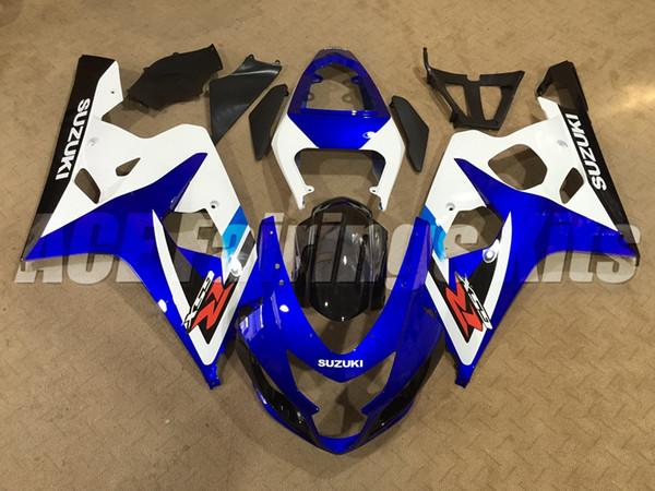 Nueva motocicleta ABS Kits de carenados de motocicletas aptos para Suzuki GSXR600 750 600 750 K4 2004 2005 04 05 conjunto de carrocería azul personalizado