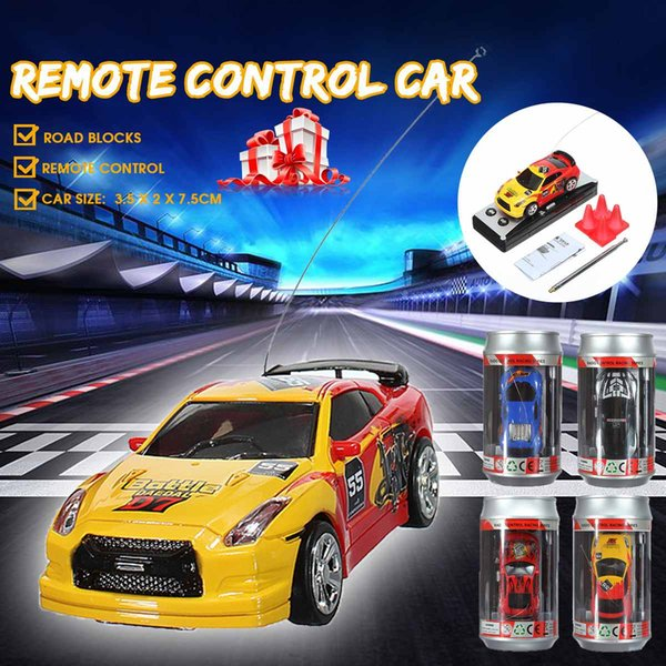 10 Colori Mini Coca-Cola telecomandata Can Kids Toy Racing Car Telecar Veicolo Telecomando Giocattoli RC Auto 1:58