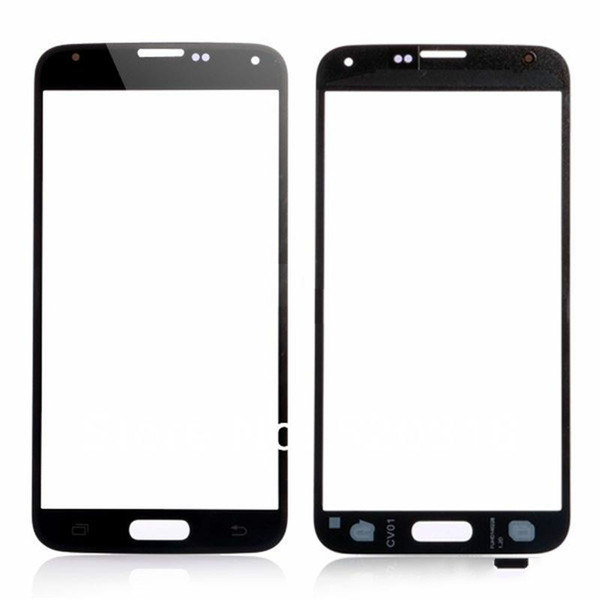 High Quality Front Outer Touch Screen Glass Lens Replacement for Samsung Galaxy s5 i9600 Black White Blue