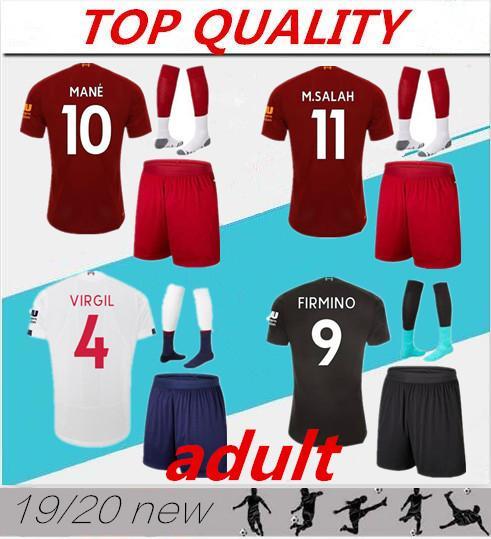 Erwachsene 2019 2020 Fußballinstallationssätze maillot de foot Männer Fußball Jersey Ausrüstungsfußballhemd 19 20 Hemd-Voetbalshirt-Satz