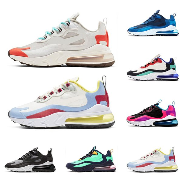 2019 Hot React Men Women Running Shoes Top Quality BAUHAUS OPTICAL BLUE VOID Fashion Mens Trainers Breathable Sports Sneakers Size 36 45 Running Shoes