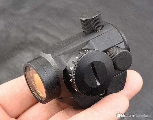 Micro mini 1x20 Red dot sight scope for picatinny weaver rail mount base All aluminum alloy CNC hunting shooting M3796