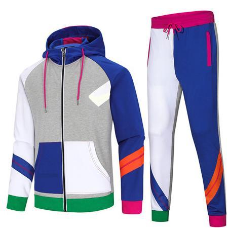 Дизайнерские костюмы для мужчин лоскутное бренд комплекты красочные спортивные активные куртки + брюки костюмы экипировка бег спортивные костюмы CE98145