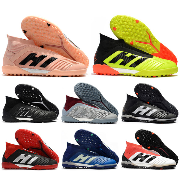 Mens High Ankle Football Boots Predator Tango 18+ ZIDANE BECKHAM Soccer Shoes PP Predator 18 X POGBA Indoor Turf IN TF Soccer Cleats