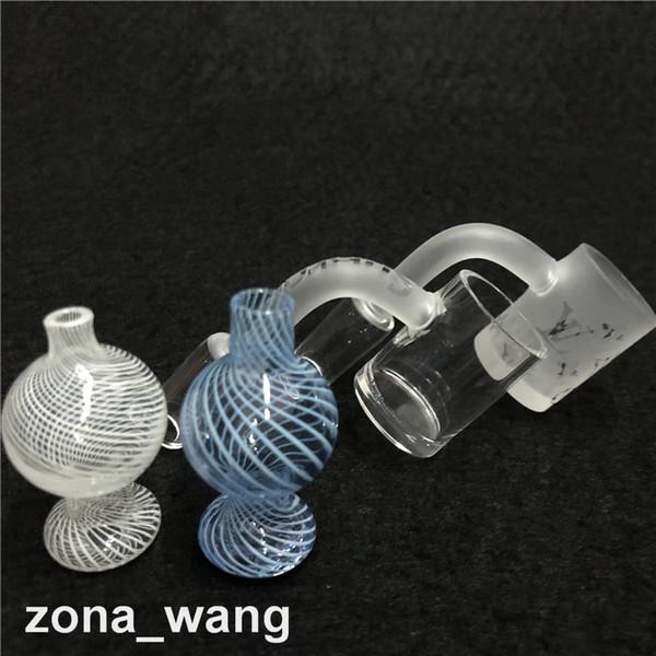 Новый XXL Кварцевый Banger Nail цветной стеклянный Carb Cap и Terp Pearl 25 мм Медовое ведро для силиконовой водопроводной трубы