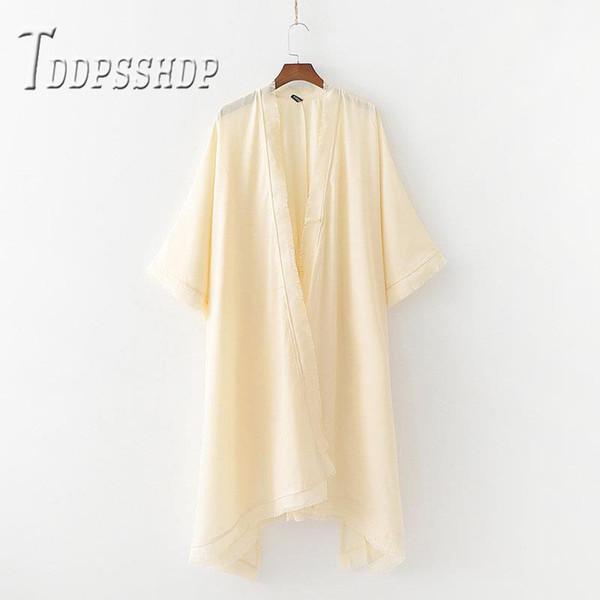 2019 Tassel Kimono Style Women Coat Casual High Street Female Outwear