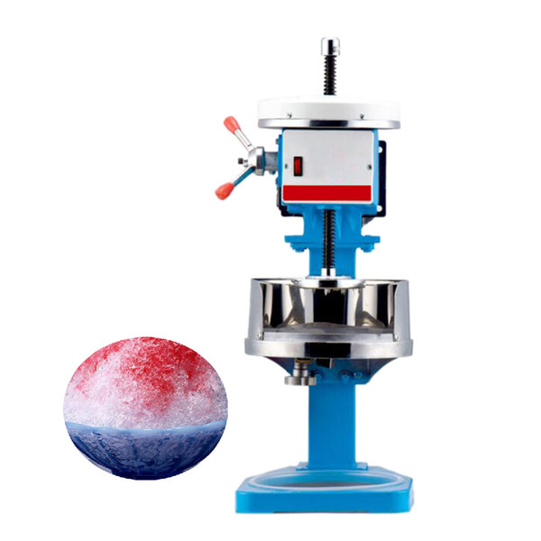 Qihang_top Electric Ice crusher shaver snow cone ice block making machine commercial ice slush sand maker tea shop