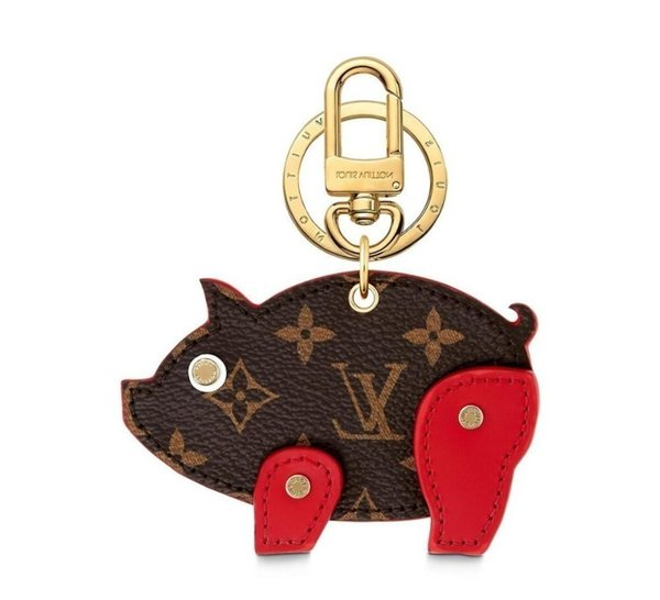 Bag M64181 Pig New And Keychain Rouge Key Holders And More Leather Bracelets Chromatic Bag Charm And Key Holder Scarves Belts
