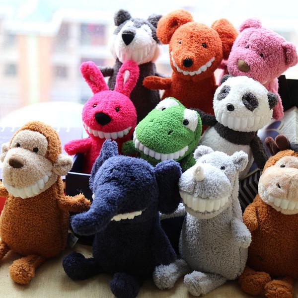 Ignatius Grinning Plush Dolls 12 Designs 25CM Children Animals Stuffed Toys INS Popular Plush Toys Kids Grasping Machines Dolls 3 Pieces