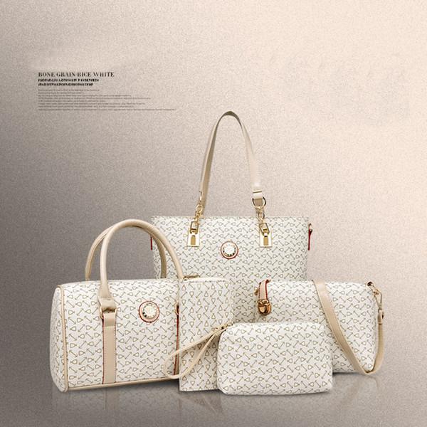 Mode Großhandel 5 Stück Set Frauen Handtasche Tote Umhängetasche Damen Schulter Messenger Bags für Frauen