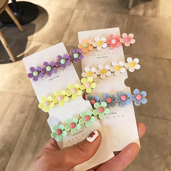 Fashion Flower girls hair clips cute sweet princess kids barrettes designer hair accessories for women BB clips designer hair clips A6270