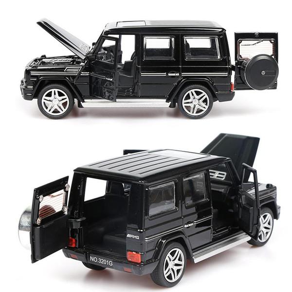 1:32 modelo de aleación de sonido ligero tire hacia atrás del coche de juguete G65 Suv Amg juguetes para niños regalo de los niños Q190604