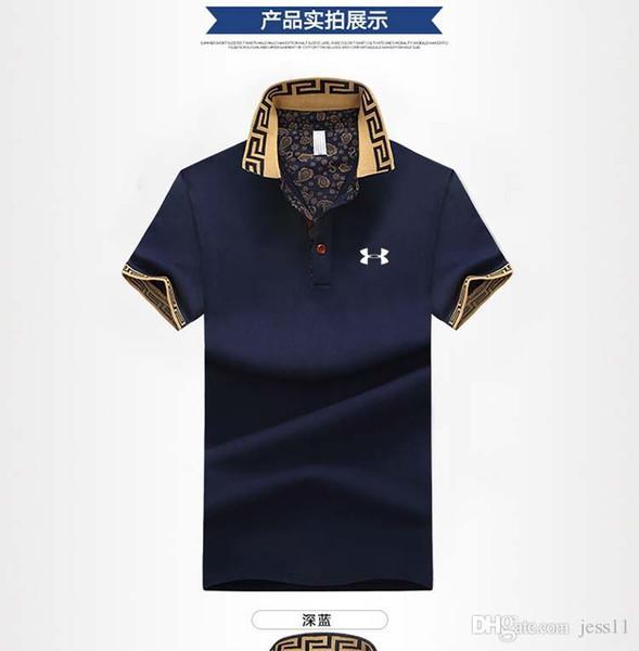 Camiseta de manga corta de la tendencia de moda de verano diseñador de la camiseta de los hombres de negocios