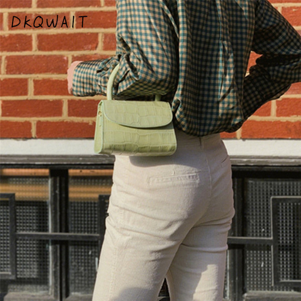 Bolsa Feminina Fashion Alligator Top-manche Sac à main Sac à bandoulière Designer femmes Mini Messenger épaule Sacs pour femmes 2019 Sac
