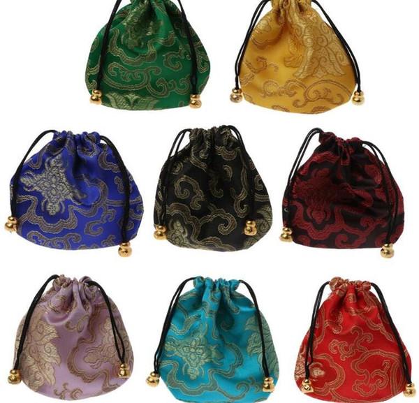 Hochwertige traditionelle Seide Reisetasche klassische chinesische Stickerei Schmuck Verpackung Tasche Veranstalter Handtaschen Schmuck Tipps GB