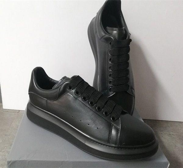 Moda Tasarımcısı Ayakkabı 100% Dana Derisi Erkekler Boy Sneaker Lüks Kadın Düz Platformu Eğitmenler Boy Kauçuk Taban wirh Kutusu ABD 11