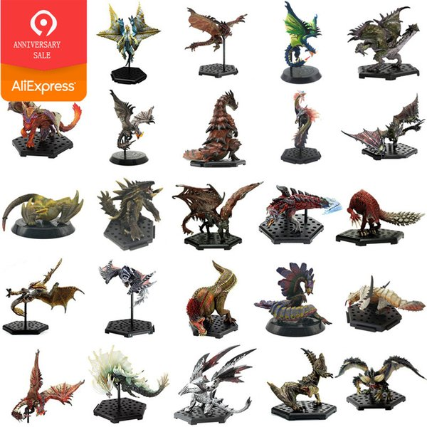 Giappone Anime Monster Hunter World Xx Modelli in pvc Hot Dragon Action Figure Decorazione Toy Monsters Model Collection C19041501