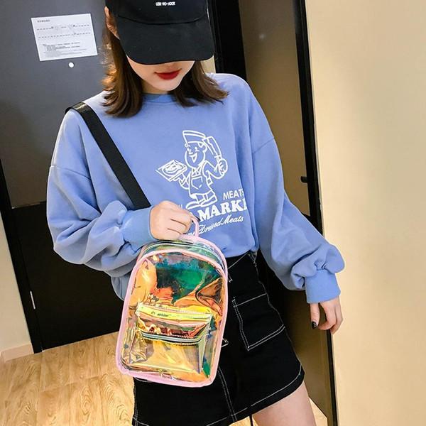Jelly Color Bag Студент Девушка Мужчины Рюкзак Двойной Плечевой Ремень Рюкзак Открытый Путешествие Белый Желтая Доказательство Воды 23dm C1