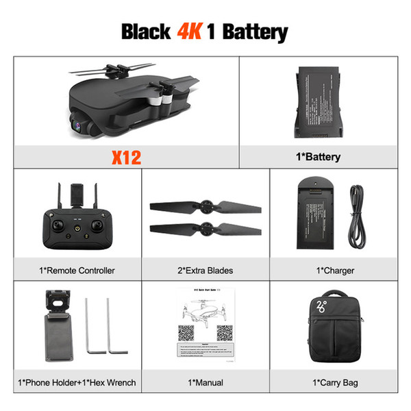 Black with 1*battery+Portable Bag
