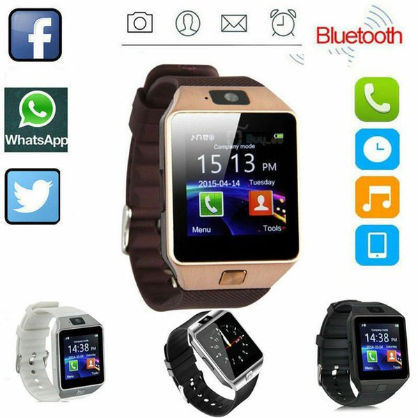 DZ09 SmartWatch Bluetooth Phone Mate GSM Sport Watch per telefoni Android IOS HTC Samsung Huawei Supporto multi lingue