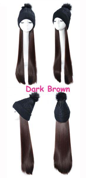peluca negro cabello lacio oscuro marrón