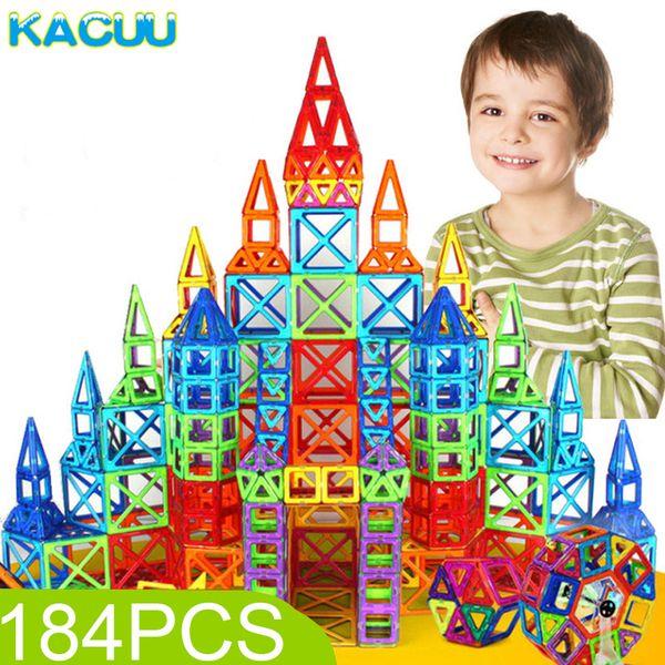 184pcs-110pcs Mini Magnetic Designer Construction Set Model & Building Toy Plastic Magnetic Blocks Educational Toys For Kids Gif Y190606