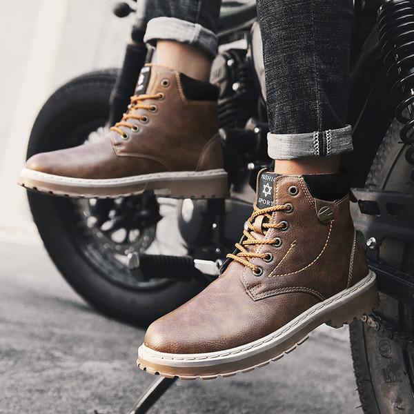 2018 Ayak bileği Boots Moda Yüksek Cut Kış Sıcak İş Güvenliği Ayakkabıları Erkekler için Çizme Erkekler Kış Ayakkabı