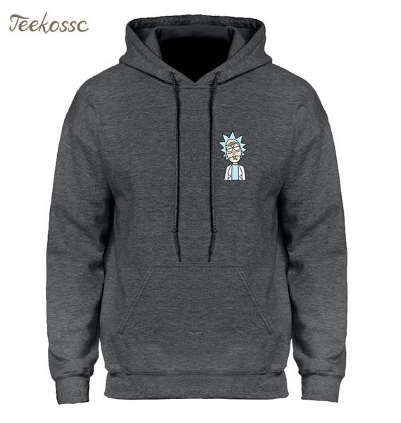 e jaqueta com capuz camisola Hoodies Homens 2019 Outono-Inverno com capuz Hoody dos desenhos animados New Moda Casual solta Homme