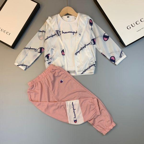 2019 Summer Wear In sports clothes Jacket Boys sets clothing Children Short Sleeve cute designer luxury Girls Fashion suits 0606